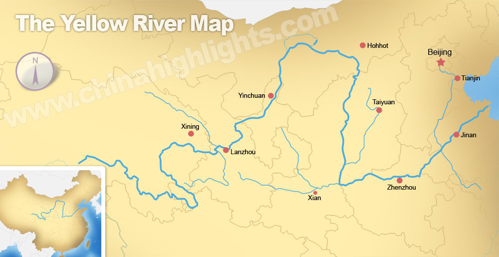 Yellow river map